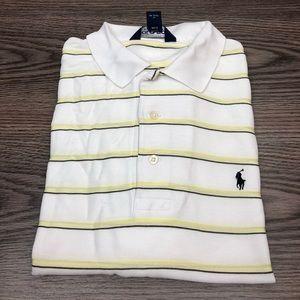 Polo Ralph Lauren White & Yellow Stripe Shirt L